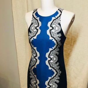 *TIBI* vibrant navy & royal blue cocktail dress!